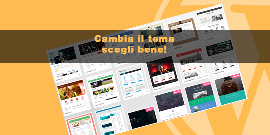 come cambiare tema wordpress