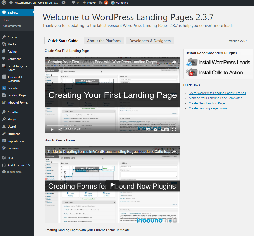 wordpress landing-page-plugin