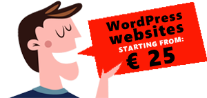 WORDPRESS WEBSITE 25 EURO